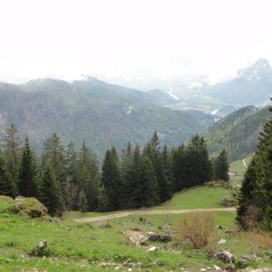 Blick von der Hütte zurück