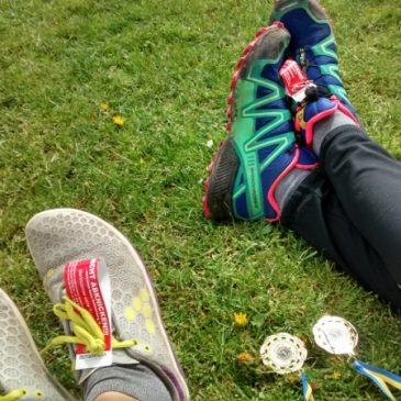 Unsere ersten Halbmarathon-Medaillen