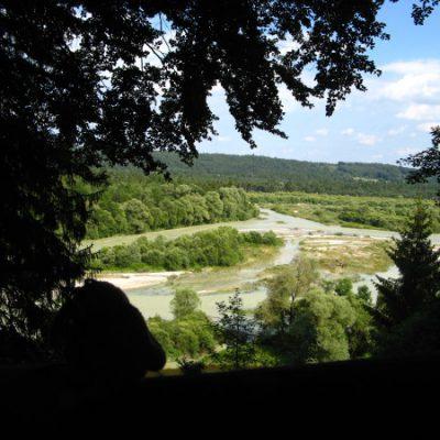 Blick auf die Flusslandschaft