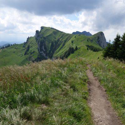 Blick auf die Gipfel auf dem Weg