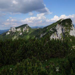 Blick auf zahlreiche Gipfel
