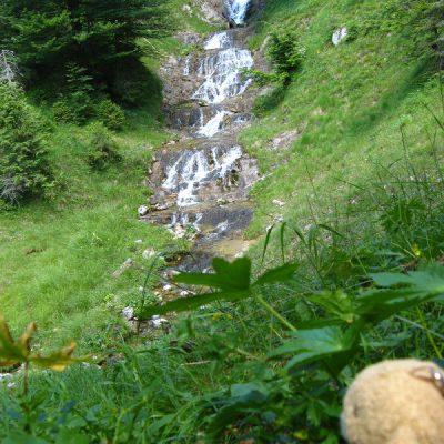 Pause am Wasserfall