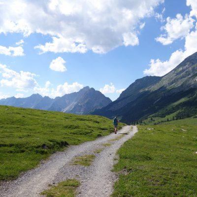 Der Weg zum Karwendelhaus