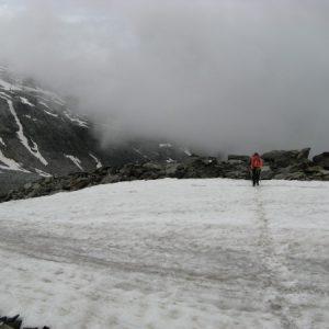 Und wieder ein Schneefeld
