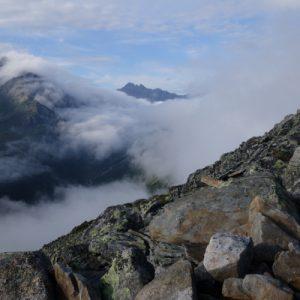 Die Wolken zogen umher und wir hatten jede Minute eine andere Aussicht