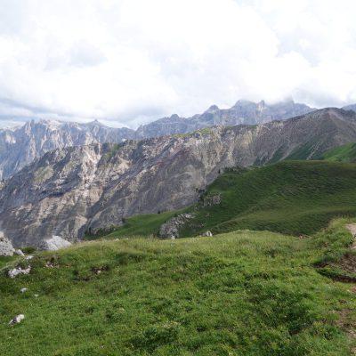 Immer die Dolomiten im Blick