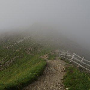 Anfangs waren wir im Nebel