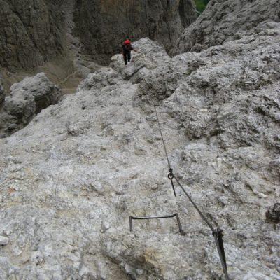 Der Klettersteig macht den Abschnitt spannend