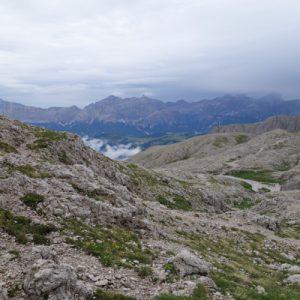 Blick beim Start von der Pisciadu Hütte