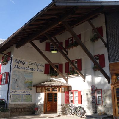 Unsere Unterkunft am Lago di Fedaia