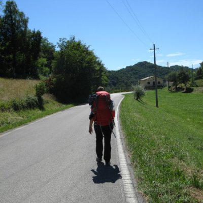 Und die Straße entlang