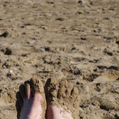 Sand an den Wanderfüßen