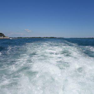 Auf dem Schiff nach Venedig