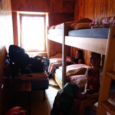 Zimmer im Rifugio Coldai
