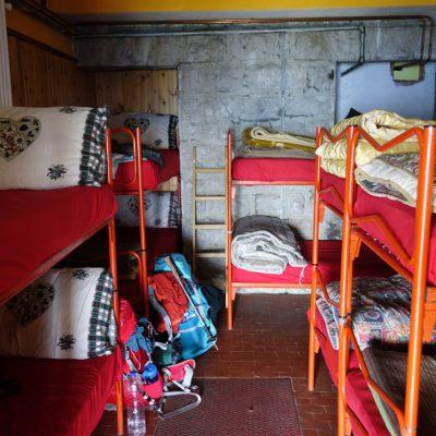 Lager im Rifugio Col Visentin