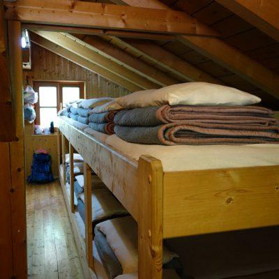 Lager in der Voldertalhütte