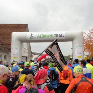 Bunte Läufer kurz vor dem Start