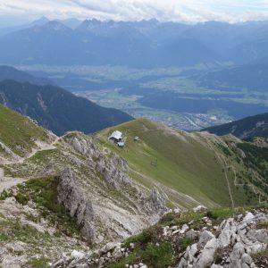 Blick zurück zur Hütte