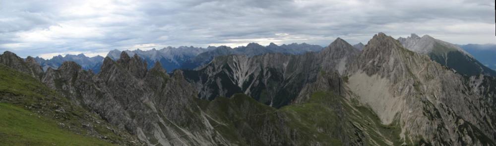 Blick auf den Freiunger Höhenweg