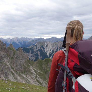 Hüttenwochenende im Karwendel: Freiunger Höhenweg und Abstieg