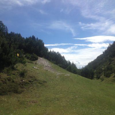 Beim Abstieg von der Nördlinger Hütte