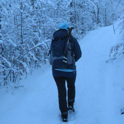 Wir konnten aber gemütlich durch den Schnee wandern