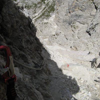 Weiter geht's auf dem Klettersteig