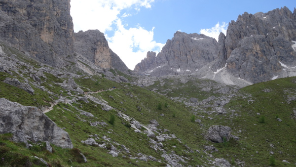 Immer weiter rein in die Dolomiten