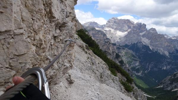 Und dann beginnt der Klettersteig