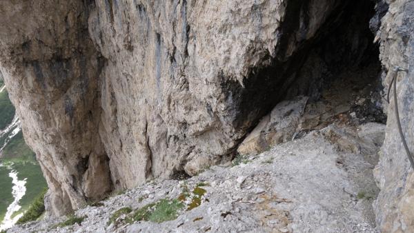 Blick zurück auf den Klettersteig