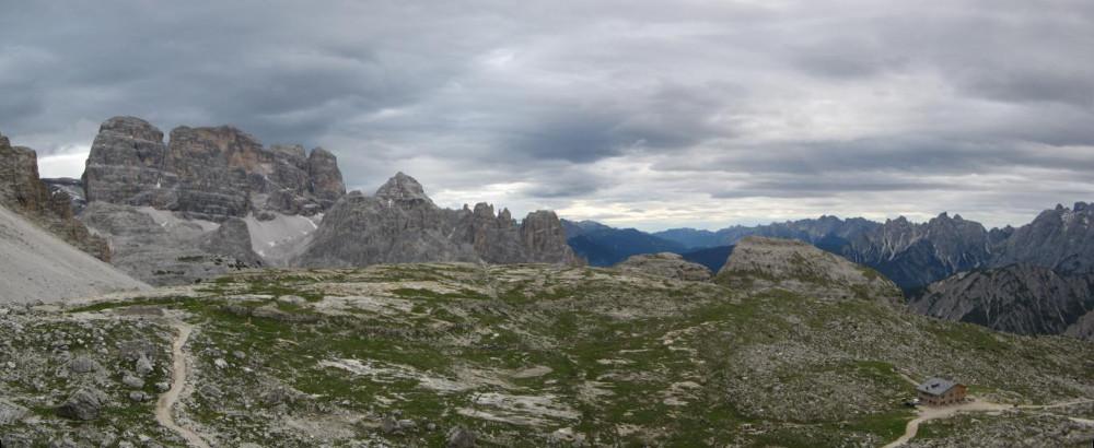 Blick zurück zur Lavaredohütte