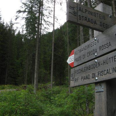 Es geht wieder nach oben: Zur Rotwandwiesenhütte