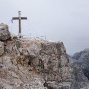 Gipfelkreuz auf dem Toblinger Knoten