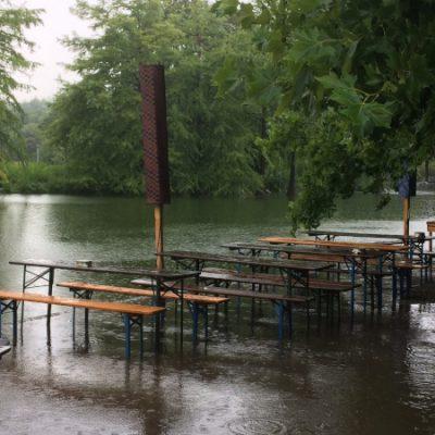 Alles überschwemmt